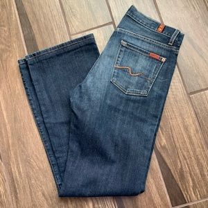 7For All Mankind Men's Relaxed Dark Wash Jeans 30